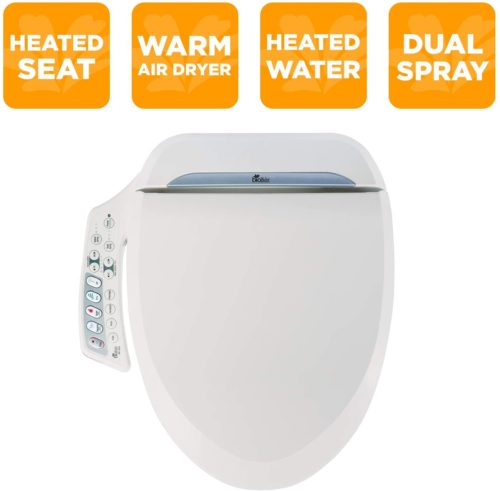 Bio Bidet Ultimate BB-600 Advanced Bidet Toilet Seat, Elongated White