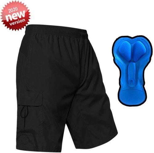 EZRUN Men's 3D Padded Mountain Bike Shorts