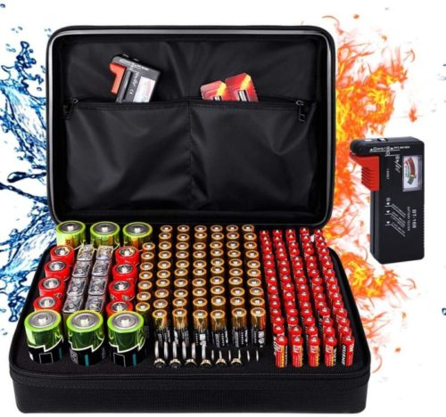 Fireproof-Battery-Organizer-Storage-Box-Fireproof-Waterproof-Explosionproof-Safe-Carrying-Case-Bag-Hard-Holder-Holds-200-Batteries-AA-AAA-C-D-9V-with-Battery-Tester-BT-168-Not-Includes-Batteries-1
