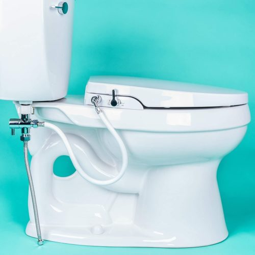GenieBidet [ELONGATED] Seat-Self Cleaning Dual Nozzles