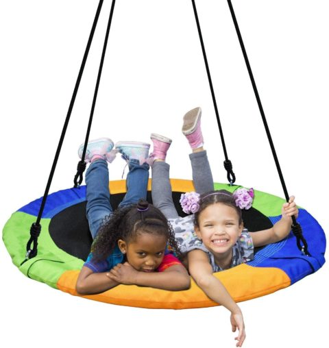 PACEARTH 40 Inch Saucer Tree Swing Flying 660lb