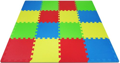 Yes4All Interlocking Exercise Foam Mats with Border