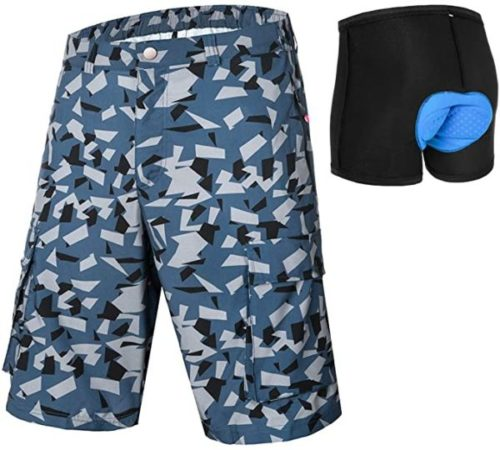 qualidyne Men's MTB Shorts Padded Mountain Bike Shorts