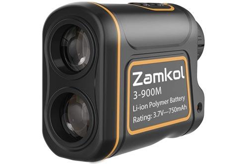 Laser Rangefinders, Zamkol 1000 yards Golf Rangefinders, IP54 Laser Binoculars For Hunting,Multi-Function Hunting Rangefinders with Speed /Vertical Height/Angle /Horizontal Distance Measurement