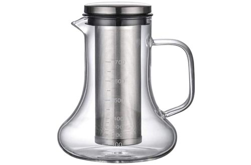 Rosymity Airtight Cold Brew Iced Coffee Tea Makers, Made by High Borosilicate Glass/Filter Comfortable Design/Heating and Cold Extraction Dual-Purpose Ideal for Coffee,Tea Or Milks.