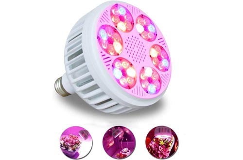 Professional LED Grow Light Bulbs 36 Watt 13 Bands Including UV IR,Plant Light for Indoor Plants-Hydroponic Greenhouse Veg/Flower/Herbs - Energy Saving and High Yield Style (36 Watts)