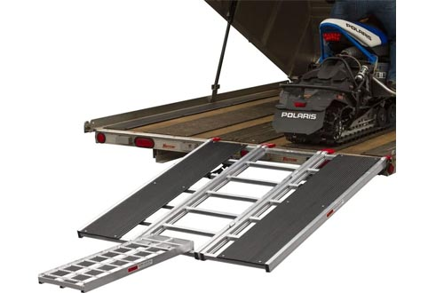 """Rage Powersports 60"""" x 54"""" Snowmobile Loading Ramps with Center Extension Track"""