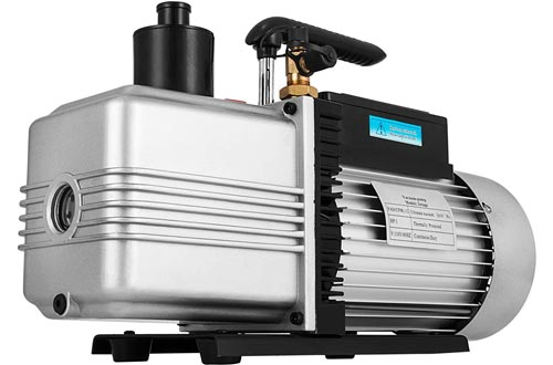 VEVOR Rotary Vane Vacuum Pumps 12CFM 1HP Double Stage HVAC Auto AC Refrigerant Air Vacuum Pumps Wine Degassing Milking Medical Food Processing Air Conditioning Vacuum Pump s