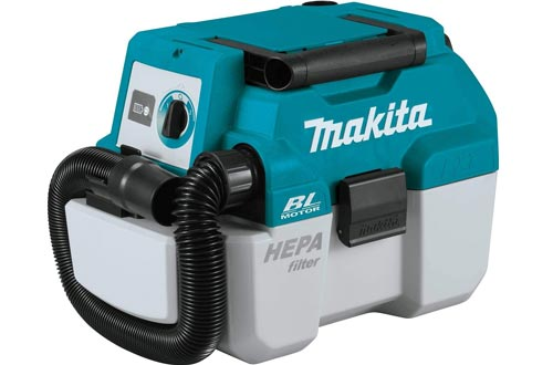 Makita XCV11Z 18V LXT Lithium-Ion Brushless Cordless 2 Gallon HEPA Filter Portable Wet/Dry Dust Extractor/Vacuums, Tool Only