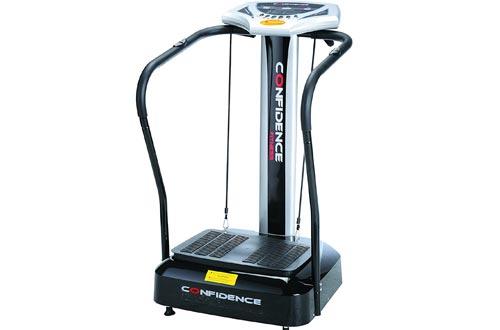 Confidence Fitness Slim Full Body Vibration Platform Fitness Machines, Black