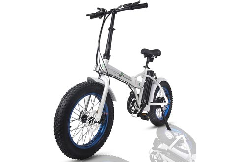 """ECOTRIC Fat Tire Folding Electric Bikes 36V 12Ah Removable Lithium Battery Beach Snow Bicycle 20"""" Ebike 500W Electric Moped Electric Mountain Bicycles"""