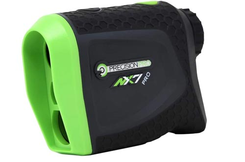 Precision Pro Golf, NX7 Pro Slope Golf Rangefinders, Laser Range Finder with Pulse Vibration, 400 Yard Range, 6X Magnification, Flag Lock, Slope Measurement, Battery Replacement