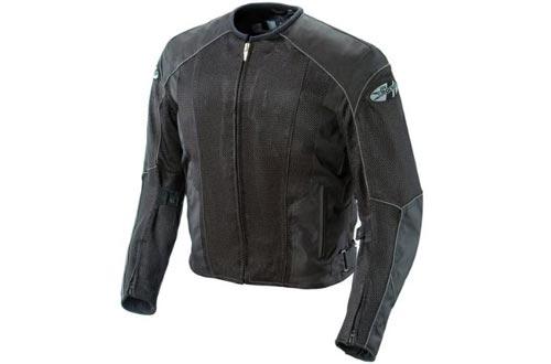 Joe Rocket Phoenix 5.0 Men's Mesh Motorcycle Riding Jackets (Black/Black, Large)