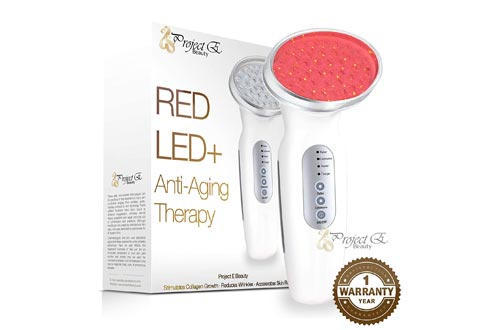Project E Beauty RED Light Therapy Machines | Wireless Photon Collagen Boost 630nm Skin Rejuvenation Anti Aging Firming Lifting Tightening Toning Wrinkles Fine Lines Removal Rechargeable Handheld