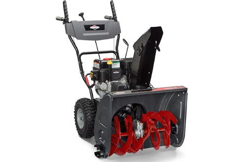 Briggs & Stratton 1024 Standard Series 24-Inch Dual-Stage Snow Blowers with Push Button Electric Start and Dash Mounted Chute Rotation