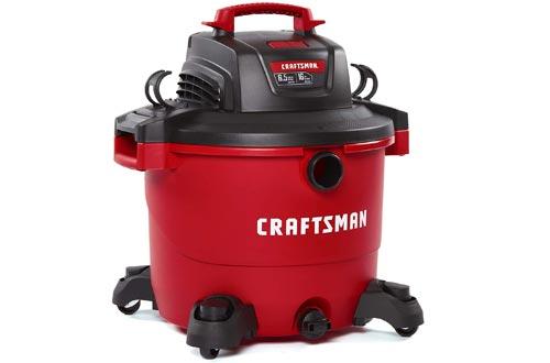 CRAFTSMAN CMXEVBE17595 16 Gallon 6.5 Peak HP Wet/Dry Vac, Heavy-Duty Shop Vacuums with Attachments
