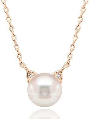 14K-Gold-Plated-Sterling-Silver-AAA-Freshwater-Cultured-Pearl-Cat-Pearl-Earrings-and-Pendant