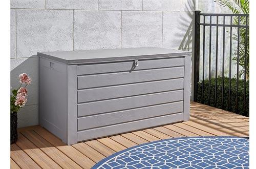Cosco Outdoor Living 87180GCG1E Deck Garden Storage Boxs, Gray