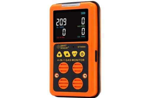 Portable Multi Gas Monitors Digital Air Quality Tester Color LCD Display Rechargeable Battery Powered Handheld Gas Detector Analyzer