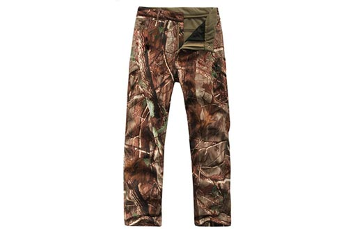 Eglemall Men's Military Tactical Hunting Pants Fleece Lined Softshell Trousers