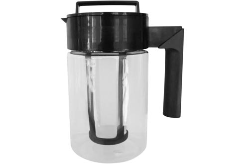 Cold Brew Coffee Maker, Pstart 30oz Iced Coffee and Tea Makers Brewing Glass Kettle with Airtight Seal & Silicone Handle & Filter, Random Color