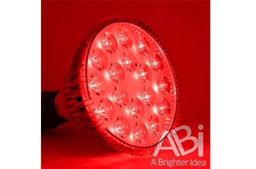 ABI 25W Deep Red 660nm LED Light Bulbs Bloom Booster for Flowering, Fruting, and Grow Spectrum Enhancement