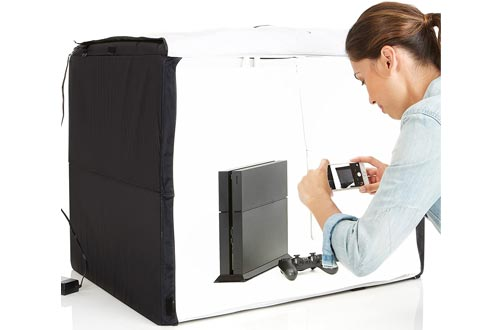 AmazonBasics Portable Foldable Photo Studios Box with LED Light - 25 x 30 x 25 Inches