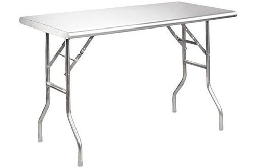 "Royal Gourmet Stainless Steel Folding Work Tables, 48"" L x 24"" W"
