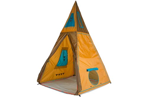 """Pacific Play Tents 30610 Kids Giant Tee Pee Tents Playhouse, 59"""" x 59"""" x 96"""", Brown, Large"""