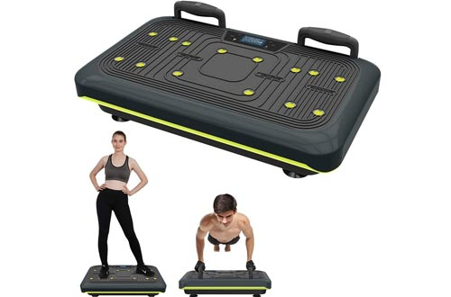 BARWING Vibration Platform, Whole Body Workout Vibration Fitness Machines, Push Up Bars, Home Training Equipment for Body Shape&Massage