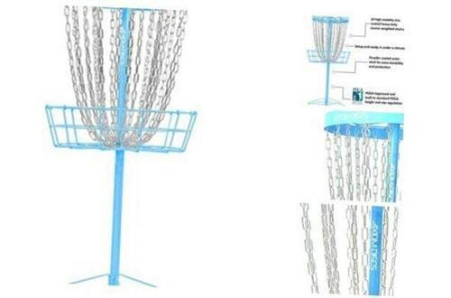 DuncaMontgo 24-Chain Disc Golf Baskets Light Blue