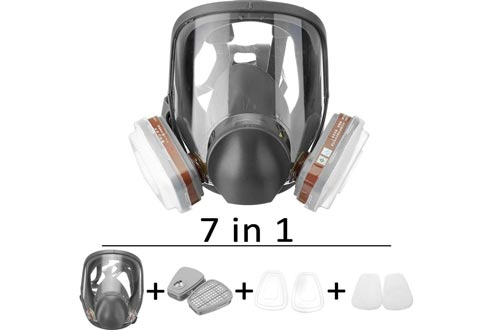 AXH Anti-Fog Full Face Respirator Gas Mask Protection Respiratory Protection Widely Used,Box No. 7 Box 7 Piece Set