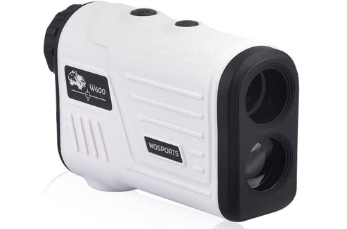 WOSPORTS Golf Rangefinders, Laser Range Finder with Slope, Golf Trajectory Mode, Flag-Lock and Distance/Speed/Angle Measurement - Golf Scope
