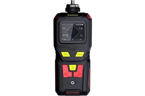 4-Gas Detector - O2, CO, H2S, LEL - USB Recharge - Sound, Light & Vibration Alarms - Large Display & Backlight