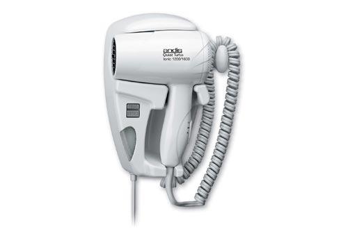 Andis 30975 1600-Watt QuietTurbo Wall Mounted HangUp Hair Dryers with Night Light, White