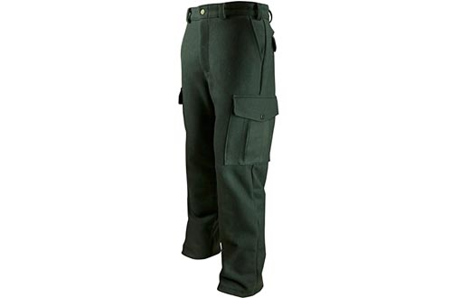 Dark Green Heavyweight Wool Hunting and Shooting Cargo Pants to Size 52 Made in Canada 234