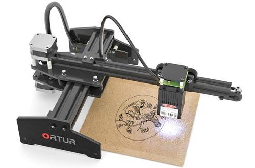 Ortur Laser Master Laser Engraver 20W Portable Laser Engraving Machines Mini Carver Desktop DIY Laser Marking for Stainless Steel Metal Deep Wood Engraving Cutting, Working Area 160x150mm (20W)