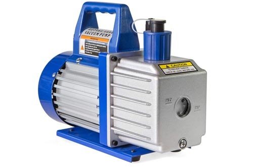 XtremepowerUS 1/2HP 2-Stage Vane Vacuum Pumps (5 CFM) Air Conditioner Refrigeration HVAC Air AC A/C R410a R134