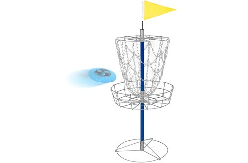 Best Choice Products Portable Disc Golf Baskets Double Chains Steel Frisbee Hole