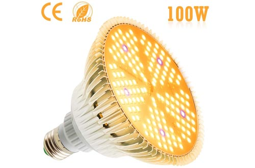 100W LED Plant Light Bulbs - Flowlamp 150 LED Grow Light Bulbs for Indoor Plants, 160 Degree E27 Full Spectrum Plant Grow Lamp for Vegetables Flower Hydroponic Seed Organic Growing Greenhouse Plants