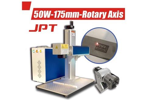 50W JPT Fiber Laser Engraver Machines Laser Marking Machine Engraving Machines 175×175mm with Rotary Axis