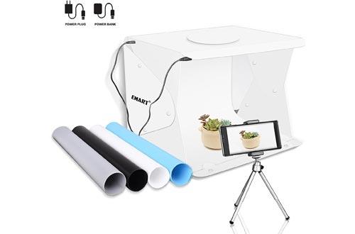 "Emart 14"" x 16"" Photography Table Top Light Box 52 LED Portable Photo Studios Shooting Tent"