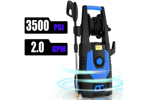 CHAKOR 3500PSI Pressure Washer Electric 2.0GPM 1800W High Power Washers Machine Best