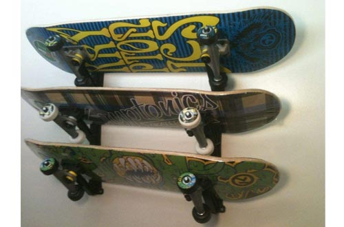 Ski snowboard skateboard wakeboard sport storage display holder wall mount racks