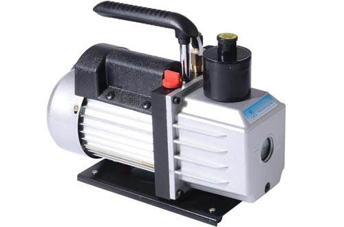 HOMCOM Single Stage 7 CFM Rotary Vane Vacuum Pumps - Black/Silver