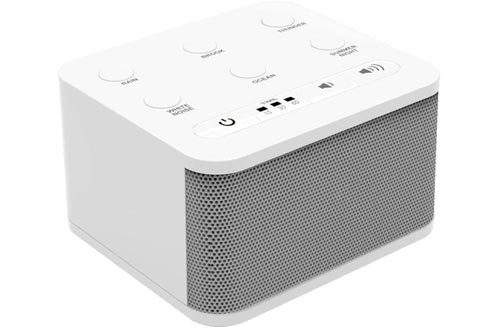 Big Red Rooster 6 Sound White Noise Machines | Sound Machines for Sleeping | Portable White Noise Machines for Office Privacy | Travel Sound Machines Baby | Plug in Or Battery Operated