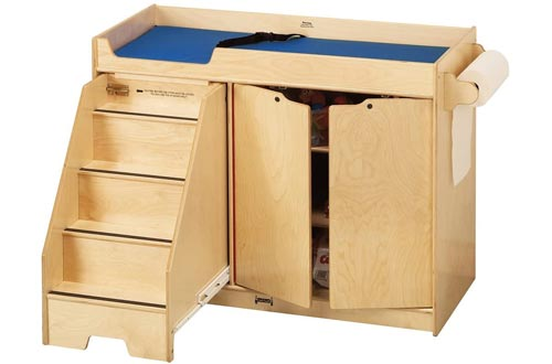 Jonti-Craft 5131JC Changing Tables with Stairs, Left