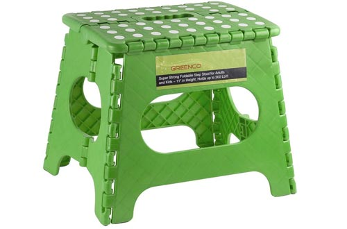 Greenco Super Strong Foldable Step Stools for Adults and Kids - 11 inches in Height, Holds up to 300 Lb