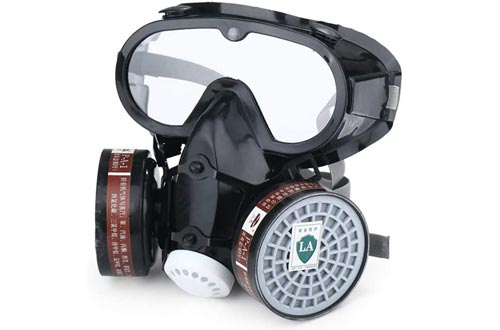 CZX Full-Face Respirators, with Filtering Protective Mask, Purifying Air, Reusable, Suitable