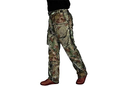 Krumba Men's Camouflage Hunting Windproof Waterproof Seam Sealed Pants